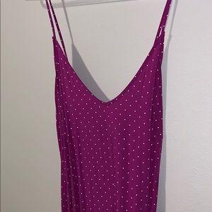 Old Navy Purple Dot Maxi Dress XXL